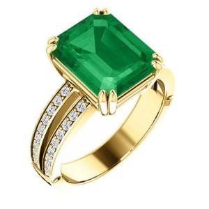Astro-Rashi Emerald Gemstone Ring