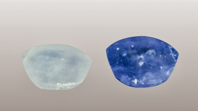 Blue Sapphire Gems after Treatments