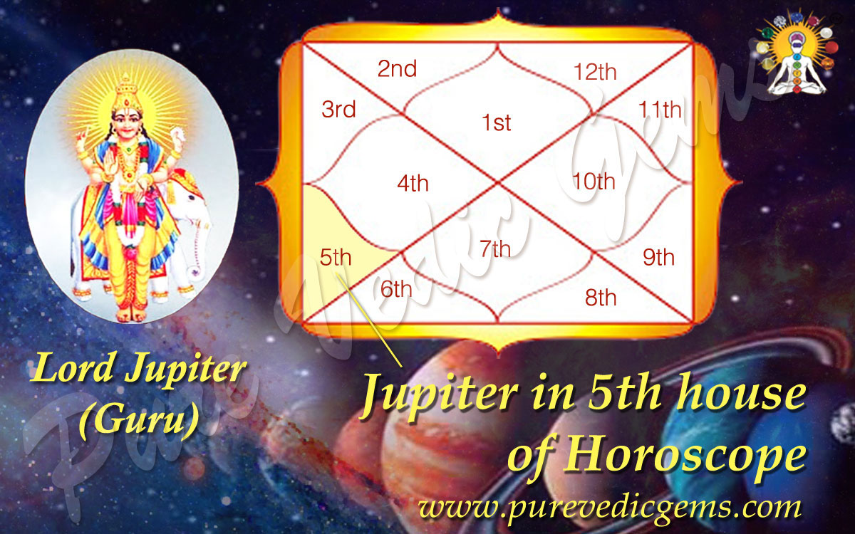 Benefits of Jupiter in 5th House of Horoscope