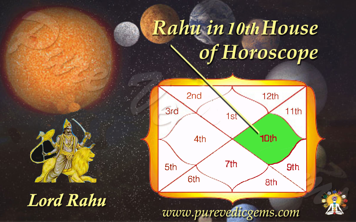 Benefits of Rahu in 10th House of Horoscope-