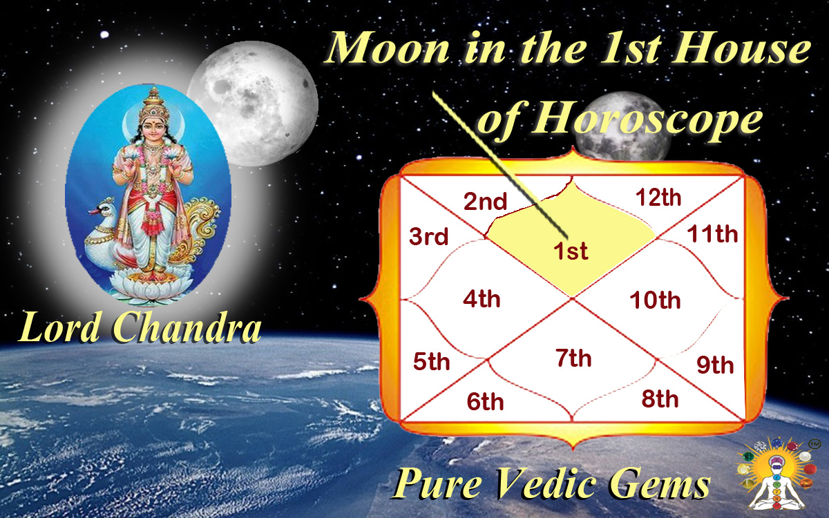 Moon in the 1st house of horoscope -