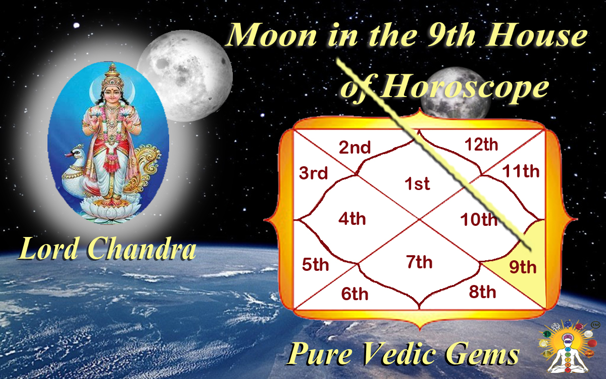 Moon in the 9th house of horoscope-