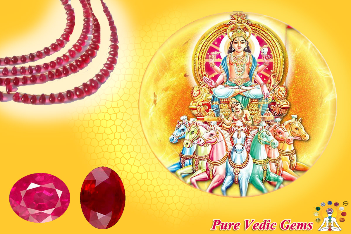 the sun and its gemstone ruby