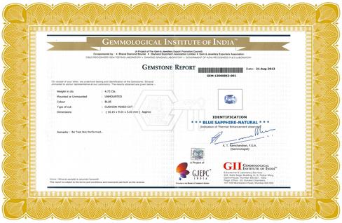 72735aa45 Certificate | Authentic Lab Certificate | Gemstone Certificate